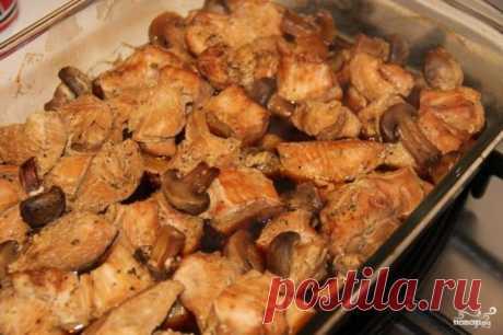 Грудка индейки с грибами в духовке - пошаговый рецепт с фото на Повар.ру