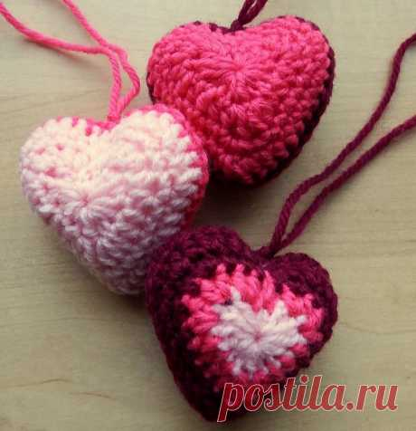 Сердечко-саше - схема вязания крючком. Вяжем Все для дома на Verena.ru