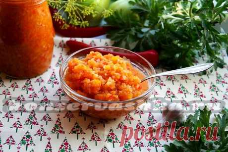 Adjika from green tomato for the winter: fingers you will lick the recipe with a photo