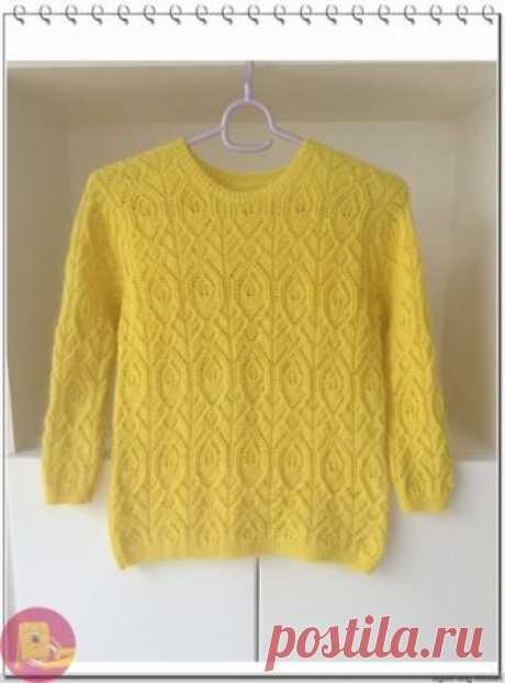 Чудесный пуловер из мохера — Сделай сам, идеи для творчества - DIY Ideas