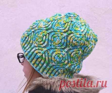 Вяжем спицами шапки «бриошь» шляпы – 8 схем с описанием