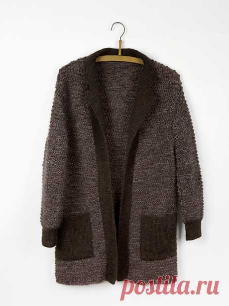 La chaqueta larga por los rayos Oak - Вяжи.ру