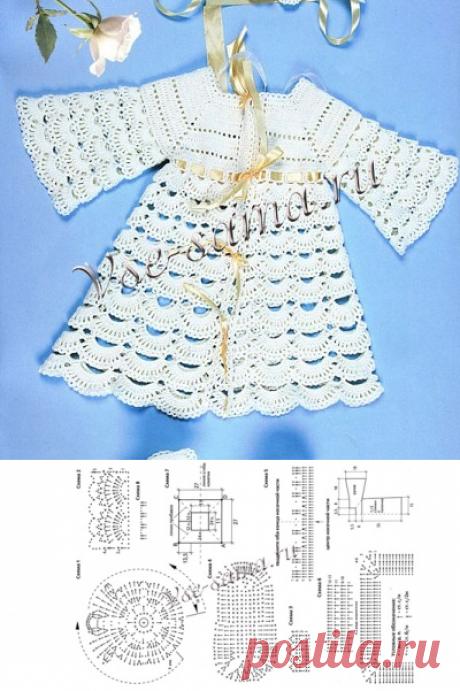 Крестильный набор - Вязание малышам крючком