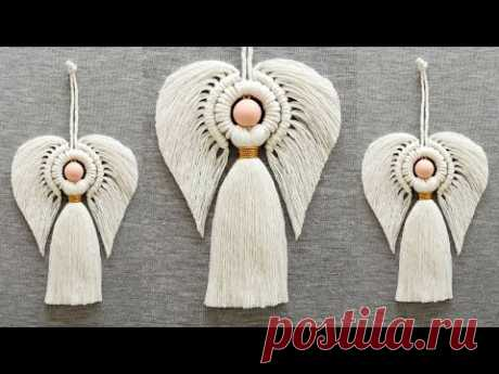 DIY ANGEL en MACRAME (paso a paso)   DIY Macrame Angel Tutorial