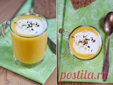 Диетический тыквенно-чечевичный суп.