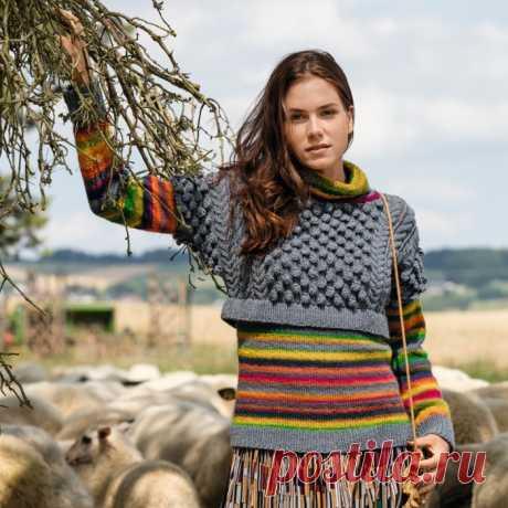 Интересный свитер с эффектом 2-в-1: Дневник группы «ВЯЖЕМ ПО ОПИСАНИЮ»: Группы - женская социальная сеть myJulia.ru