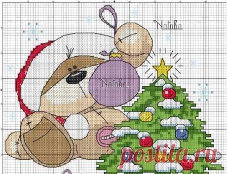 Новогодние схемы для вышивки крестом - Ярмарка Мастеров - ручная работа, handmade