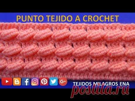 Punto a crochet OLITAS para suéteres y bufandas paso a paso - YouTube