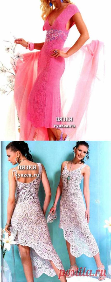 Платье крючком со схемой и описанием