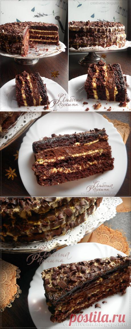 """Шоколадный торт """"Лунная ночь""""."""