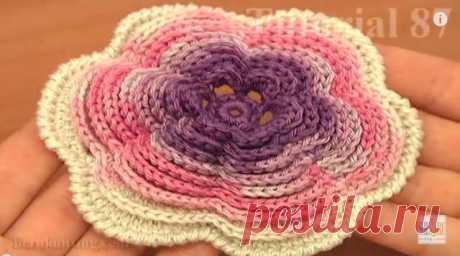 ergahandmade: Big Crochet Flower + Video