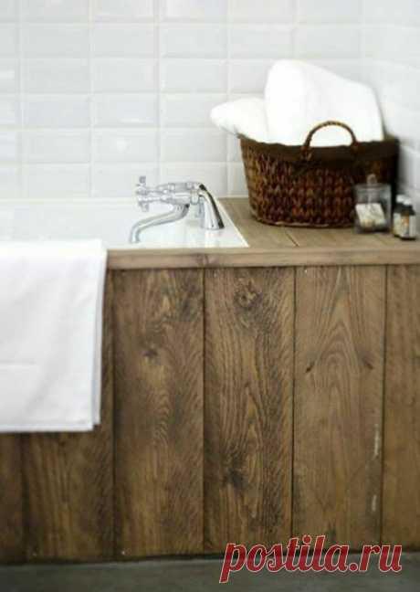 Чем еще отделать экран у ванны, если и плитка и пластиковый экран уже надоели? | Энергия ремонта | Пульс Mail.ru Когда идей больше нет...