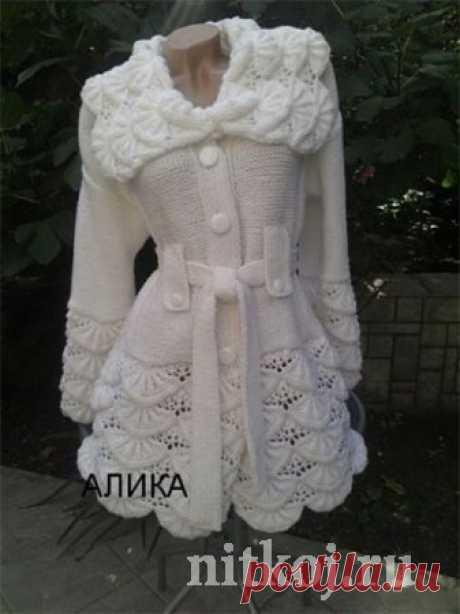 Пальто, Алсацийские гребешки спицами » Ниткой - вязаные вещи для вашего дома, вязание крючком, вязание спицами, схемы вязания