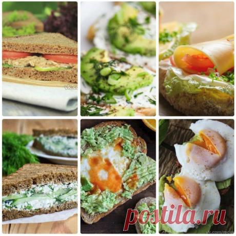 6 вкуснейших правильных бутербродов: завтрак, который вы полюбите