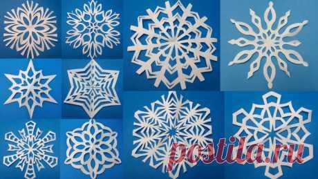 20 схем восхитительных снежинок из бумаги | Изюминки