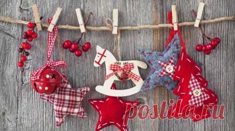 Новогодние украшения своими руками: поделки из разных материалов