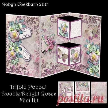 Trifold Popout Peace Roses Mini Kit