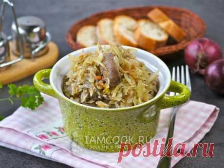 Тушеная капуста с печенью — рецепт с фото Вкусное полноценное блюдо из капусты и куриной печенки для всей семьи.