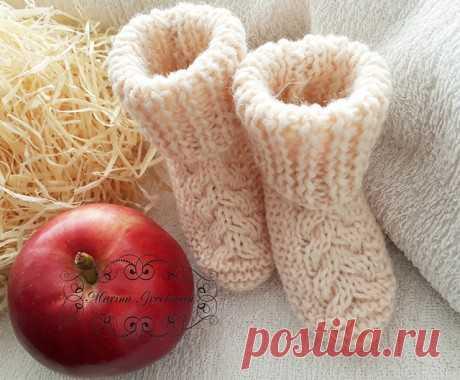 Носки – пинетки спицами, Вязание для детей