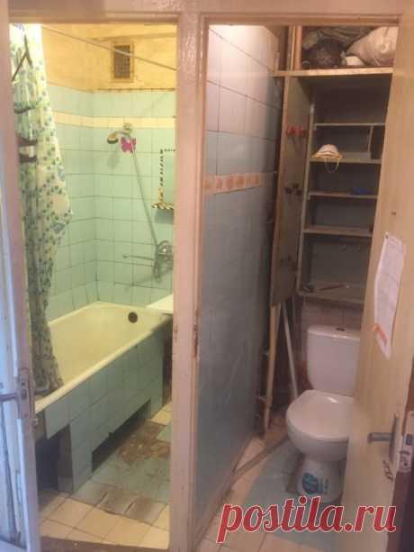 Классная идея по объединению маленькой ванны и санузла своими руками