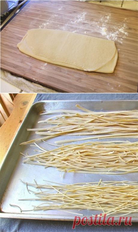 Как приготовить домашнее тесто для пасты или лазаньи - рецепт, ингредиенты и фотографии