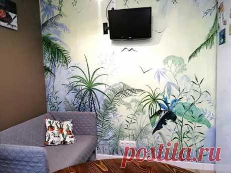 Роспись стены в квартире: бюджетно и красиво - Сам себе мастер - медиаплатформа МирТесен