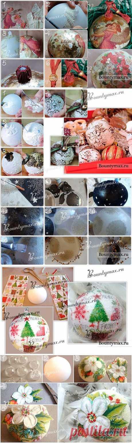 Декупаж новогодних шаров - это очень красиво!