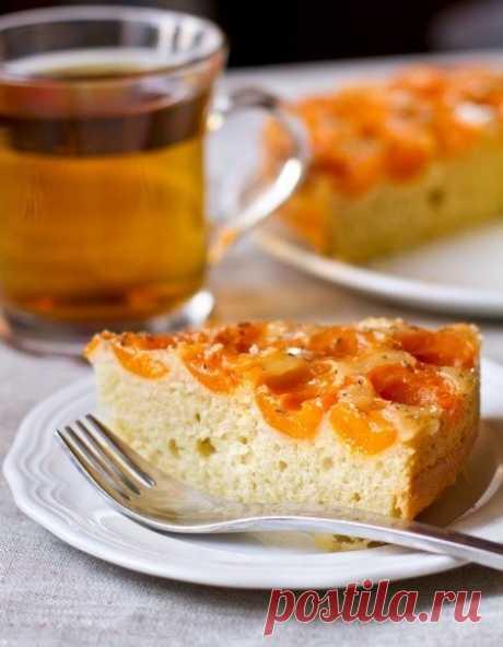 Как приготовить абрикосовый пирог-перевертыш с тимьяном - рецепт, ингредиенты и фотографии