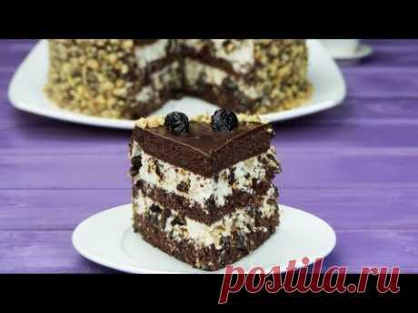 """Добавки на всех не хватит! Торт """"Чернослив в шоколаде"""" – изумительно вкусный десерт!   Appetitno.TV"""
