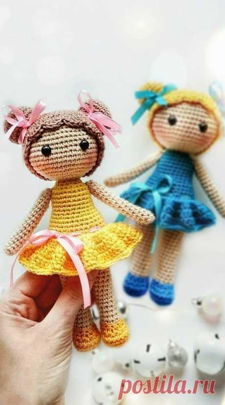 PDF Куколка Хлоя крючком. FREE crochet pattern; Аmigurumi doll patterns. Амигуруми схемы и описания на русском. Вязаные игрушки и поделки своими руками #amimore - Кукла, куколка, пупс.