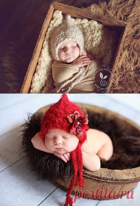 Baby Bonnet SOFT 'n DREAMY line NATURAL newborn от Knitbysarah