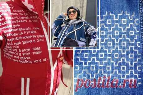 То, как Ольга Хон управляется с джинсой, нужно видеть. Речь об одежде, о боро, о сашико | Подушкины секреты | Яндекс Дзен