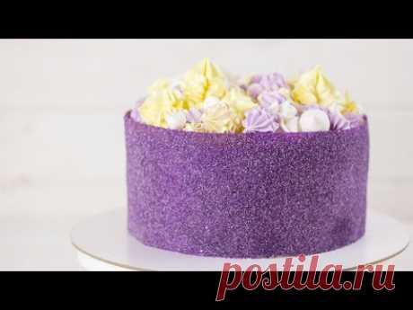 ТЕХНИКА САХАРНОГО ЛИСТА.Как украсить торт без крема. Как приготовить сахарный лист для торта