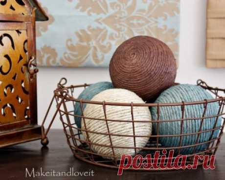 Декоративные шары в домашнем интерьере