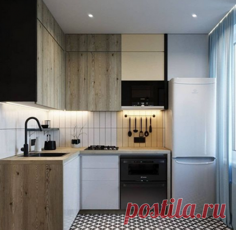 Как можно оформить маленькую кухню 6,5 м2. Один из вариантов. | Все о ремонте квартир | Яндекс Дзен