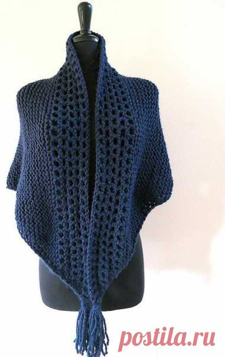 Шаль-шарф для тех, к кому тепло еще придет не скоро из категории Интересные идеи – Вязаные идеи, идеи для вязания