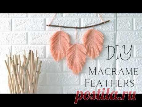 🌿 Macrame Feathers (DIY)  🌿