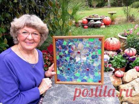 "Картина из мозаики ""Морские цветы"""