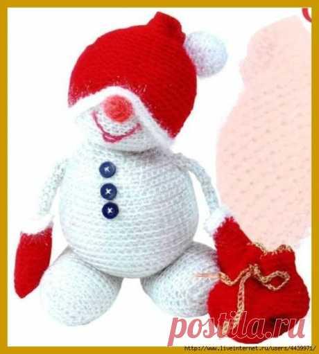 Забавный снеговик (крючок)