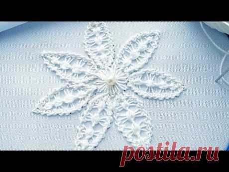 Вышивка: Румынское кружево Цветок. Фантазия. #malina_gm