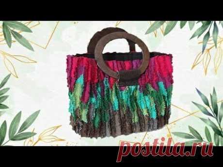 Волшебство своими руками. Как сшить красивую сумку-корзину / Различные техники шитья / Ремесло - YouTube