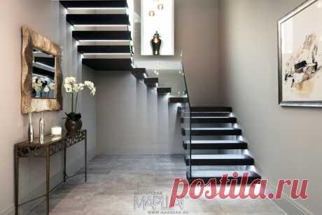 Изготовление лестниц, ограждений, перил Маршаг – Деревянные консольные лестницы и самонесущие ограждения