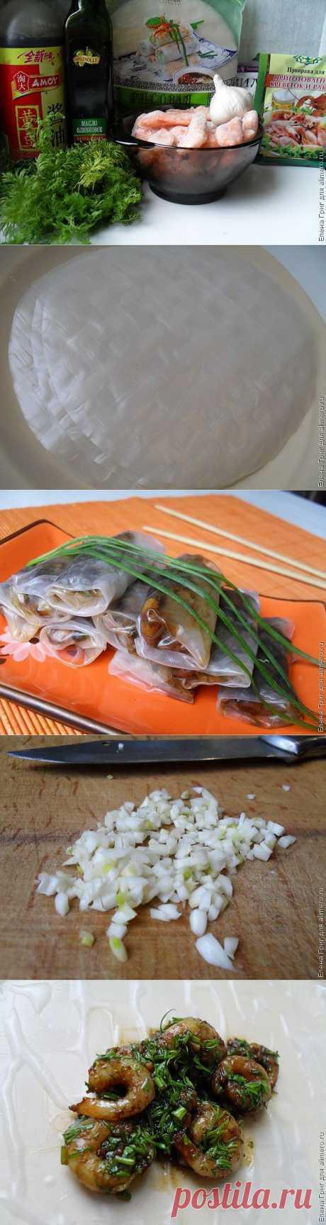Спринг роллы с креветками / Рецепты с фото