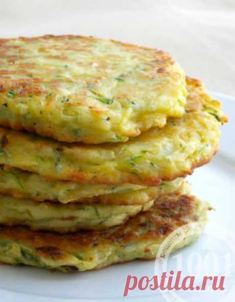 Котлеты из кабачков с гороховой мукой - Постные блюда из кабачков от 1001 ЕДА
