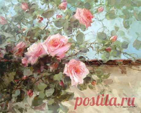Чувство аромата: чудесные розы современного итальянского художника  Современный итальянский художник R. Masson Benoit работает в Турине. До 20 лет учился живописи у разных мастеров. После участвовал в групповых и персональных выставках.  Его произведения - это серия …