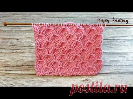 ШИКАРНЫЙ УЗОР Спицами | How to knit New knitting design/pattern