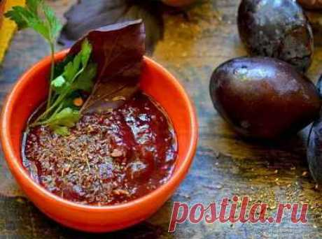 Рецепт Соус ткемали из слив по-грузински с фото