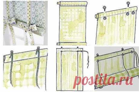 Рулонную штору можно не покупать, а сделать своими руками. Рулонной шторой можно закрыть окно или стеклянную дверь. Она спасет помещение от яркого солнца и украсит собой интерьер. А изготовим мы ее своими руками. Рулонные на пластиковые окна еще и устанавливаются в два счета.   Для работы нам понадобятся следующие инструменты и материалы: два отреза ткани разного дизайна – для лицевой и изнаночной стороны шторы  два деревянных бруска длинной с оконную раму – один для кр...