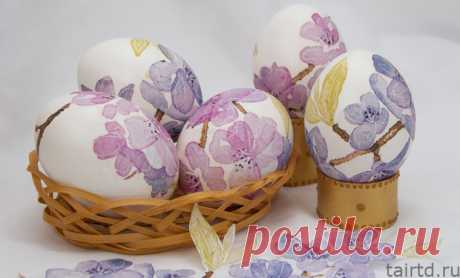 Декупаж пасхальных яиц салфетками   Мастер-класс