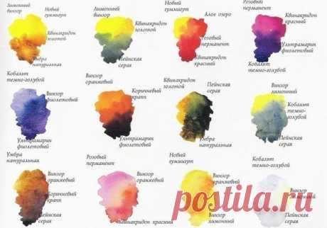 Смешивание красок (на заметку) / Вязание как искусство!